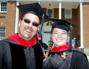 New graduates Chris and Nicole Henderson-Johns